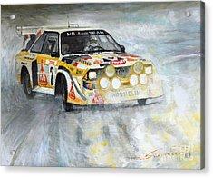 1985 Audi Quattro S1 Acrylic Print by Yuriy Shevchuk