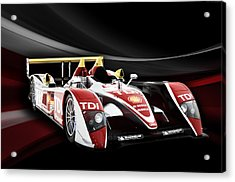 Audi R10 Acrylic Print by Peter Chilelli