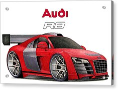 Audi Toon Acrylic Print by Lyle Brown