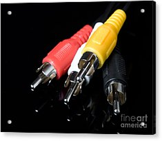 Audio And Video Cables Acrylic Print by Sinisa Botas