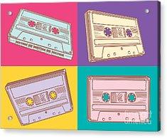 Audio Cassettes Acrylic Print