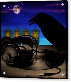 Audiophile Raven Acrylic Print by Milton Thompson