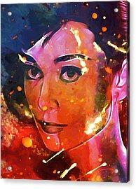 Audrey Colored My Heart Acrylic Print by Steve K
