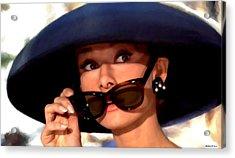 Audrey Hepburn @ Breakfast At Tiffany's Acrylic Print