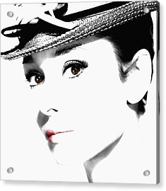 Audrey Hepburn 2 Acrylic Print by Andrew Fare