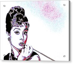 Audrey Hepburn 20130330 Acrylic Print by Wingsdomain Art and Photography