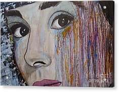 Audrey Hepburn-abstract 2 Acrylic Print by Ismeta Gruenwald