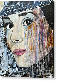 Audrey Hepburn-abstract Acrylic Print by Ismeta Gruenwald