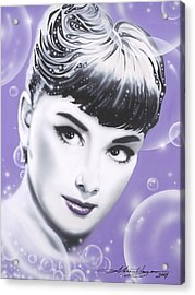 Audrey Hepburn Acrylic Print by Alicia Hayes