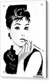 Audrey Hepburn Acrylic Print by Anna Androsovski