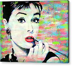 Audrey Hepburn Art Breakfast At Tiffany's Acrylic Print