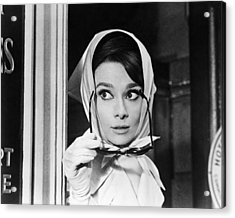 Audrey Hepburn In Charade  Acrylic Print by Silver Screen