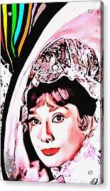 Audrey Hepburn In My Fair Lady Acrylic Print by Art Cinema Gallery