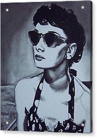 Audrey Hepburn Acrylic Print by Lori Keilwitz