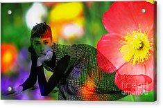 Audrey Hepburn Acrylic Print by Marvin Blaine