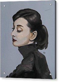 Audrey Hepburn Acrylic Print by Matt Burke