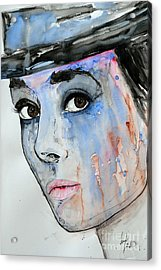 Audrey Hepburn - Painting Acrylic Print