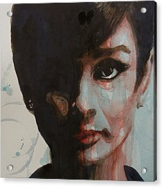 Audrey Hepburn  Acrylic Print by Paul Lovering