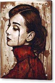 Audrey Hepburn - Quiet Sadness Acrylic Print