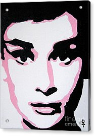 Audrey Hepburn Acrylic Print by Venus