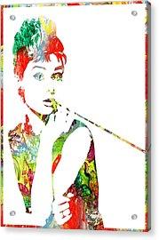 Audrey Hepburn - Watercolor Acrylic Print