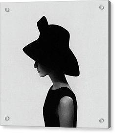 Audrey Hepburn Wearing A Givenchy Hat Acrylic Print