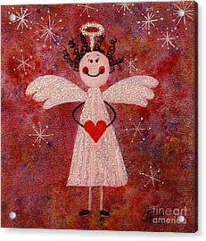 Audrey The Angel Acrylic Print by Jane Chesnut