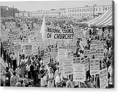 August 28, 1963 - Marchers, Signs Acrylic Print
