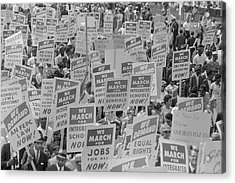 August 28, 1963 - Marchers With Signs Acrylic Print