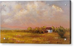 Acrylic Print featuring the painting August Afternoon Pa by Katalin Luczay