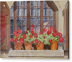 August At The Auberge  Acrylic Print by Mary Ellen Mueller Legault