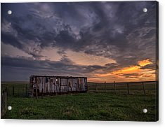 August Boxcar Acrylic Print by Thomas Zimmerman