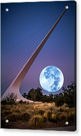 August Moon Acrylic Print by Randy Wood