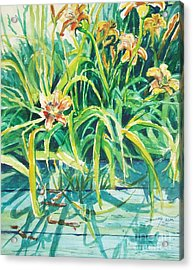 Acrylic Print featuring the painting August Shadows by Joy Nichols
