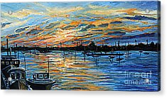 August Sunset In Woods Hole Acrylic Print by Rita Brown