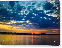 August Sunset Over Lake Nagawicka Acrylic Print