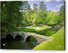 Augusta National Hole 12 - Golden Bell 2 Acrylic Print by Scott Melby