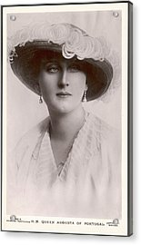 Augusta, Queen Of Portugal Augusta Acrylic Print by Mary Evans Picture Library