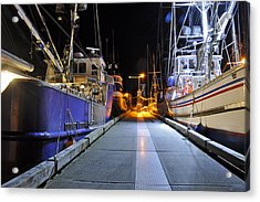 Acrylic Print featuring the photograph Auke Bay By Night by Cathy Mahnke