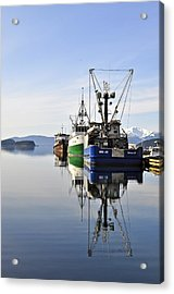 Auke Bay Reflection Acrylic Print by Cathy Mahnke
