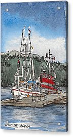 Acrylic Print featuring the mixed media Auke Bay  by Tim Oliver