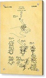 Aull Cigarette Ring Patent Art 1938 Acrylic Print by Ian Monk