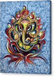 Aum Ganesha Acrylic Print
