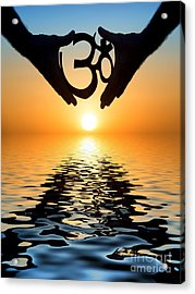 AUM Acrylic Print by Tim Gainey