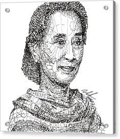 Aung San Suu Kyi Acrylic Print