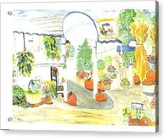 Aunt Helen's Farm Acrylic Print by Thelma Harcum