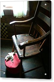 Aunt Tillie's Sewing Chair Acrylic Print by Julie Dant