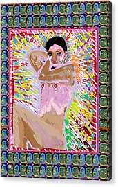 Aura Art Effect Of Love In Heart Showering Sparkle Colors Navin Joshi Rights Managed Images Graphic  Acrylic Print