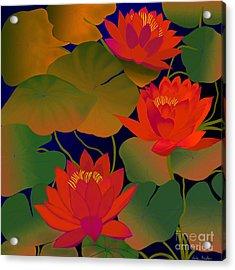 Acrylic Print featuring the digital art Aura by Latha Gokuldas Panicker