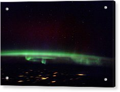 Aurora Borealis From Space Acrylic Print